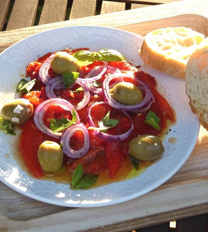 Ofenpaprika mit Oliven