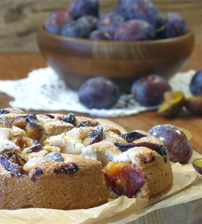 Pflaumenkuchen mit Ingwer (vegan)