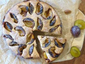Veganer Pflaumenkuchen mit Ingwer