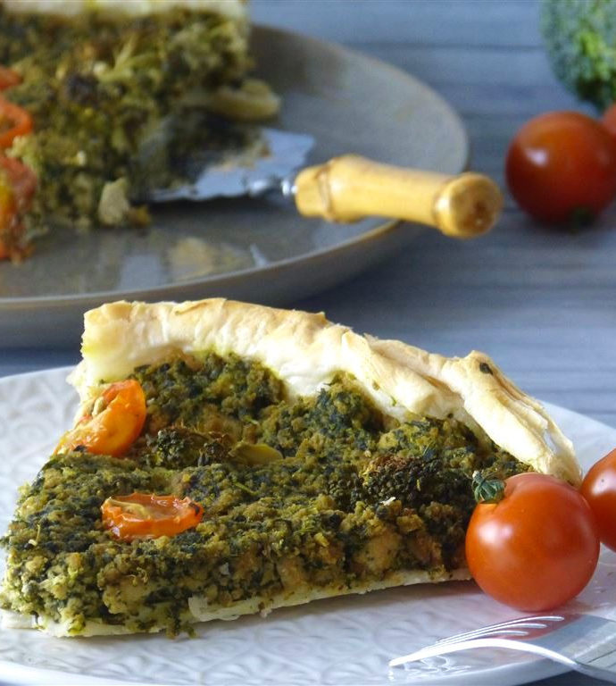 Spinat-Quiche (vegan)