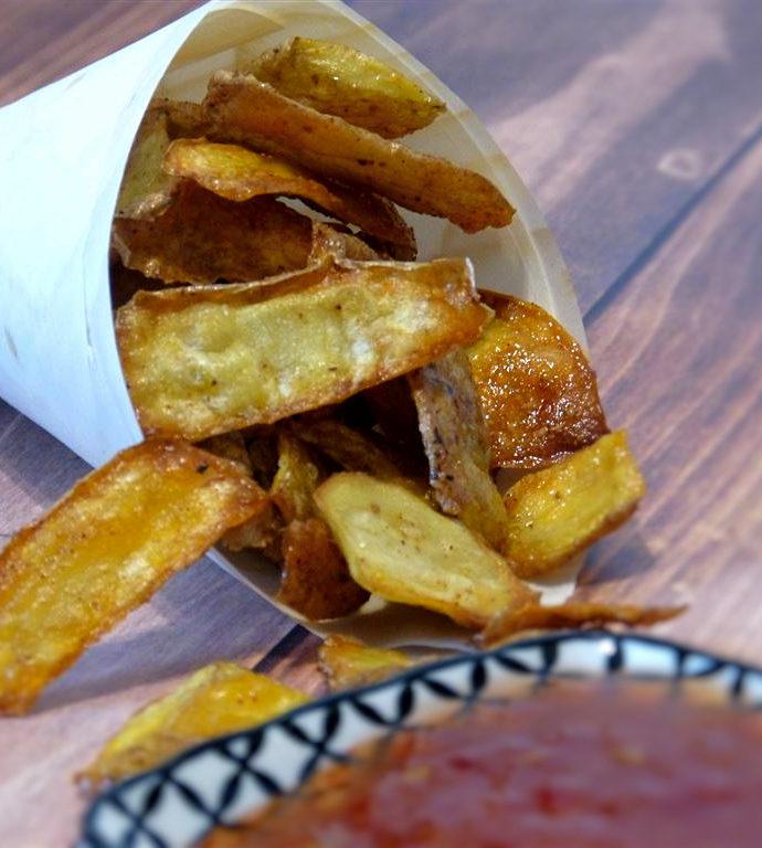 Kartoffelchips selbstgemacht (vegan)