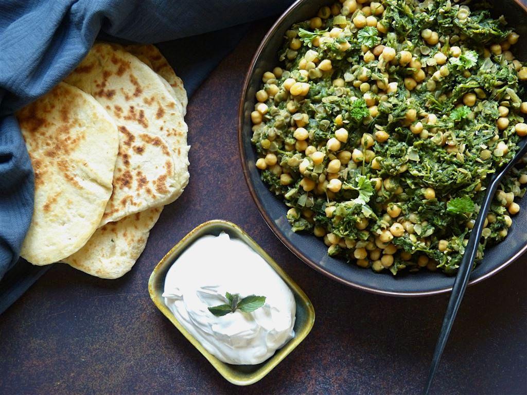 Green Stew mit Naanbrot